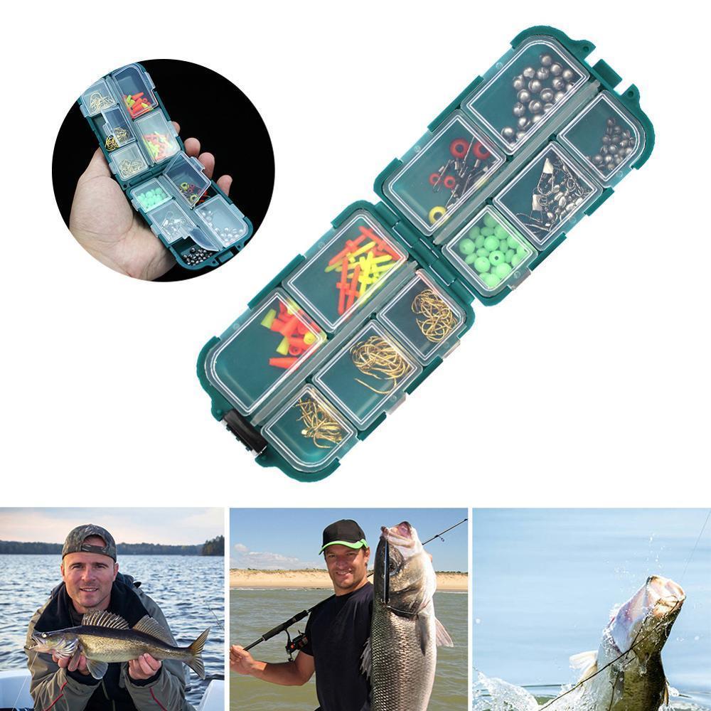 accessoires de pêche 157 morceaux de paquet d'équipement de pêche à la roche, notamment crochet de matrice, les grains de l'espace, plan d'ouverture, la lame en poids, bouchon