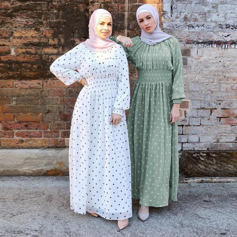 Ropa étnica Ramadán Eid Mubarak Abaya Turquía Hijab Muslim Dress Islámico para las mujeres Dubai Kaftan Omán Robe Ropa Musulmana Para Mujer1