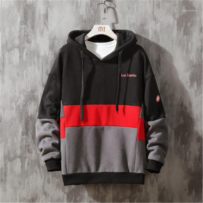 Colorblock à capuche mode tendance oversize Polaires manches longues Sweat-shirts Designer Homme d'hiver en vrac Pull Casual Pull homme