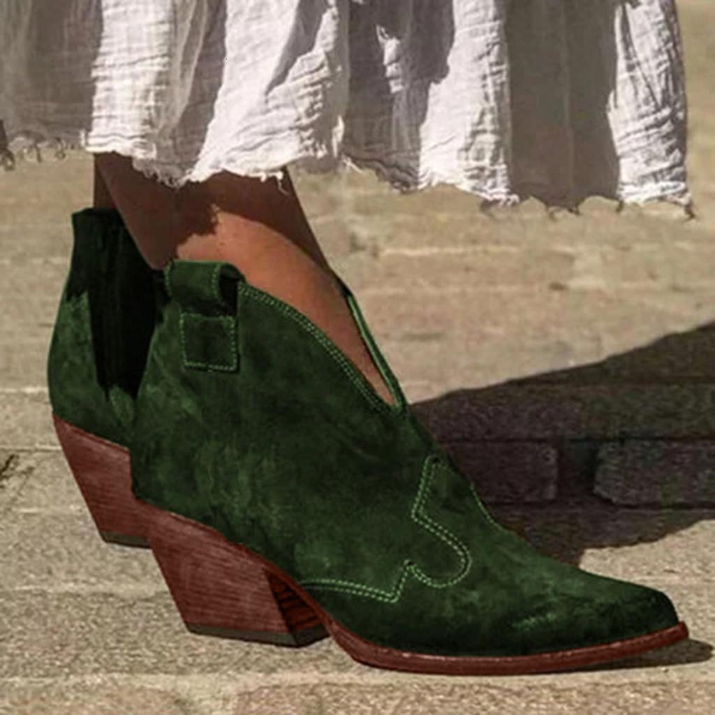 مثير الكاحل المرأة خريف 2019 الغربية أحذية رعاة البقر واشار تو أحذية الجلد المدبوغ أنيقة لأنثى قصيرة الأحذية # G7