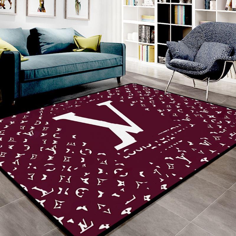 Nordic Parlor Home Tappeti Design creativo Lettera modello Modello Acqua Lavaggio Tappeto Europeo Stile Europeo Vendita calda Tappetino da salotto di alta qualità