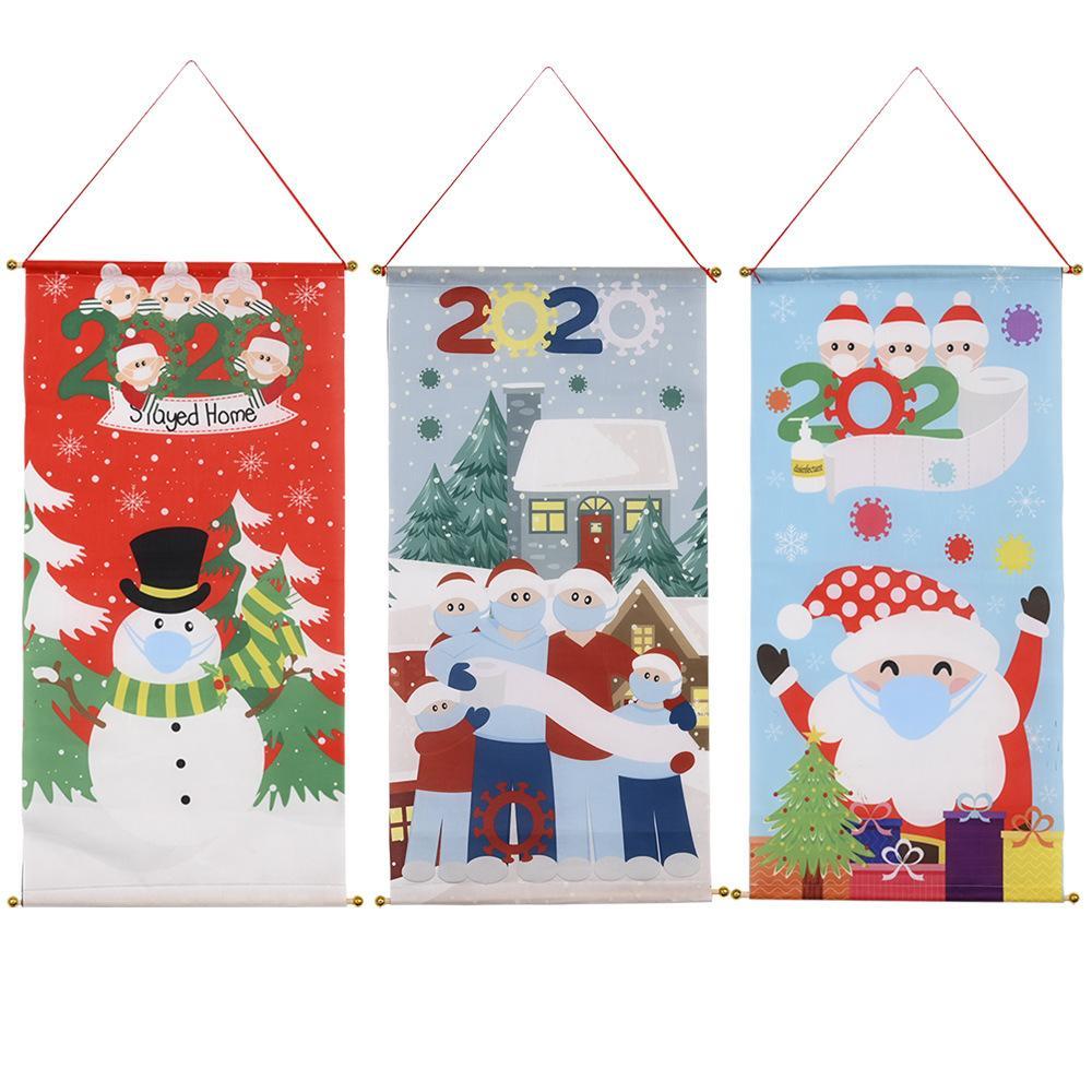 Мультфильм Маска рождественских украшений сада флаг повесить флаги Праздничного Дома отдых Двор Флагов Баннеры НАЧАЛЬНОГО Декор и песчаная дар