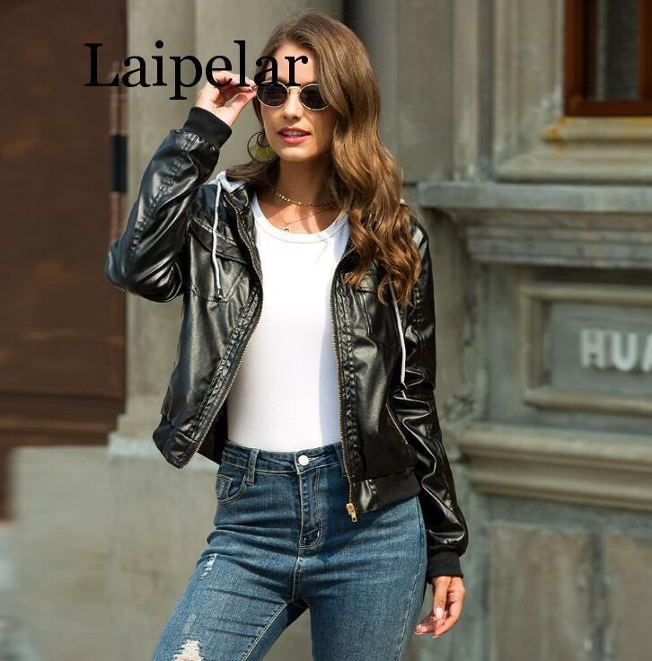 Women's Jackets Laipelar Ostrich Jacket Women Pockets Motorcycle Autumn Coat Long Sleeve Bomber Female Outerwear Coats