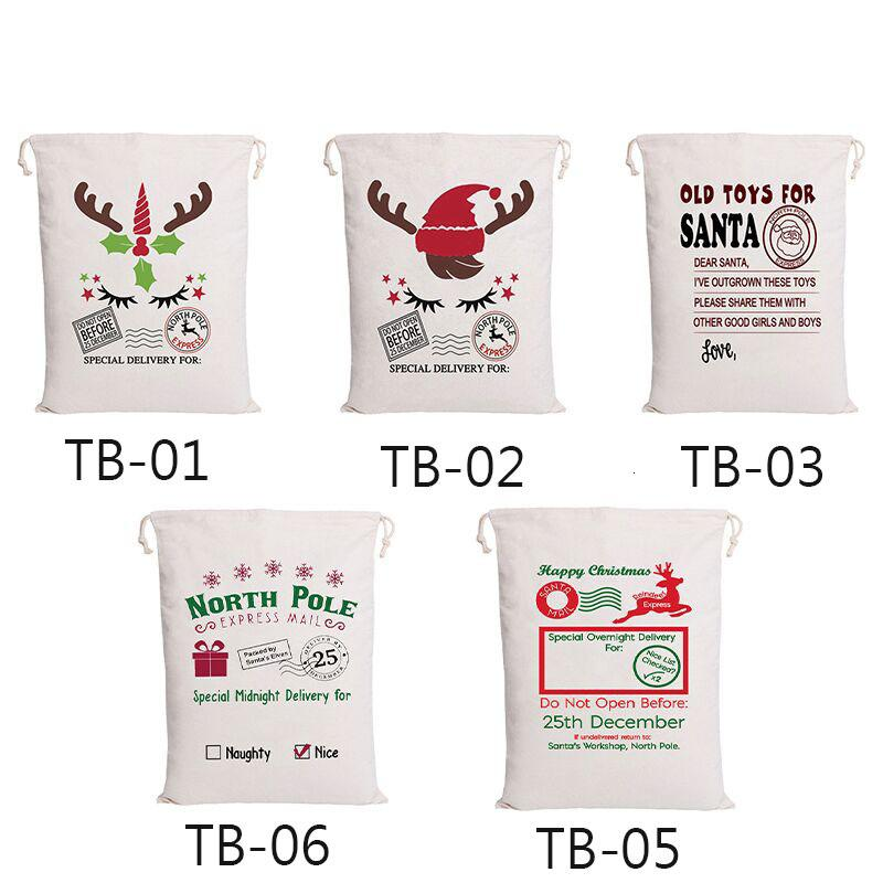 Sacos de Santa 38 styels algodón Bolsas de Navidad grandes orgánicos pesados lazo de regalo personalizado bolsas partido del festival