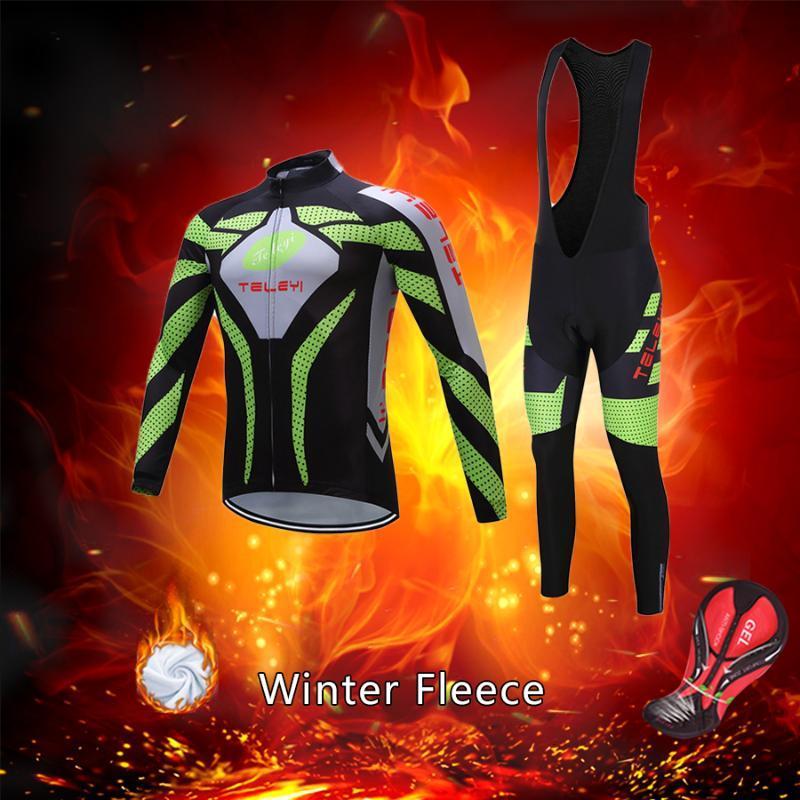 شحن مجاني الدافئة الشتاء الدراجات ملابس الرجال 2020 الحرارية الصوف دراجة جيرسي مجموعة mtb دعوى الذكور دراجة الملابس مريلة عدة موحدة