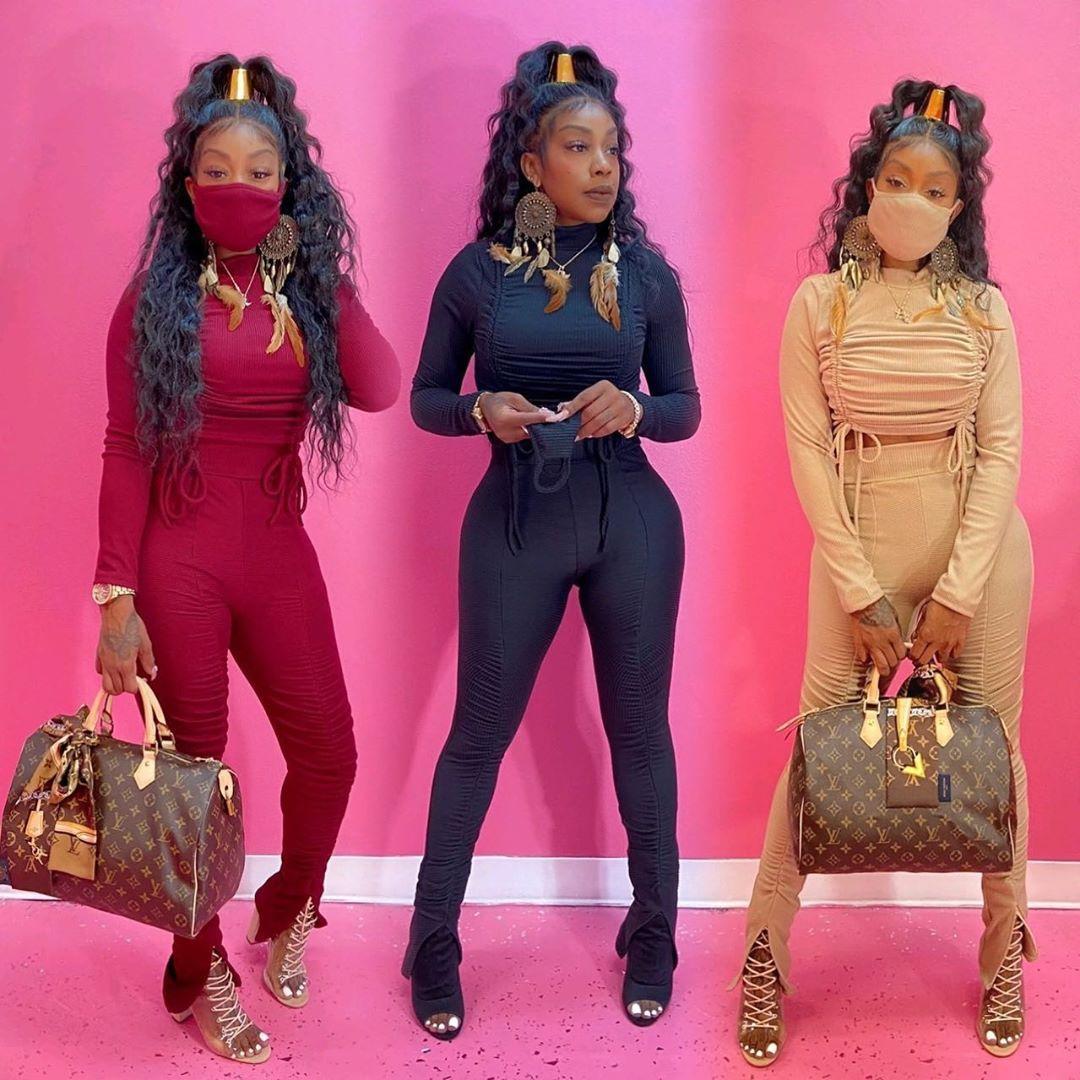 Bandage Stacked Womens Designer Outsuits Solid Color Frühling und Herbst dünne Heiße Verkaufs-Frauen Zweiteiler Hose