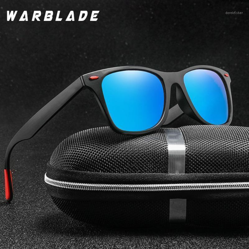 Männer Polarisierte Sonnenbrille Frauen Fahrspiegel Beschichtung Square Sonnenbrille Punkte Rivet Gläser Männliche Schattierungen Strahlen mit Box1