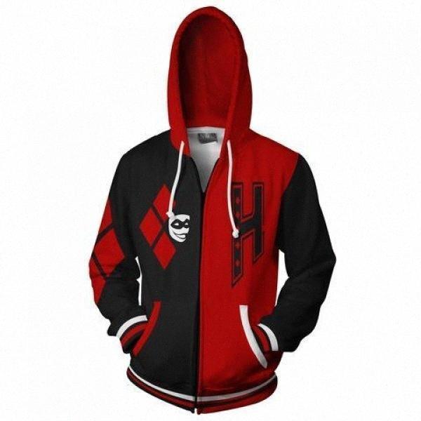 2017 novos homens da moda mulheres refrigeram a camisola Hoodies das mulheres dos homens 3D imprimir Asymmetric Red preto Estilo Streetwear manga longa roupas 41Tv #