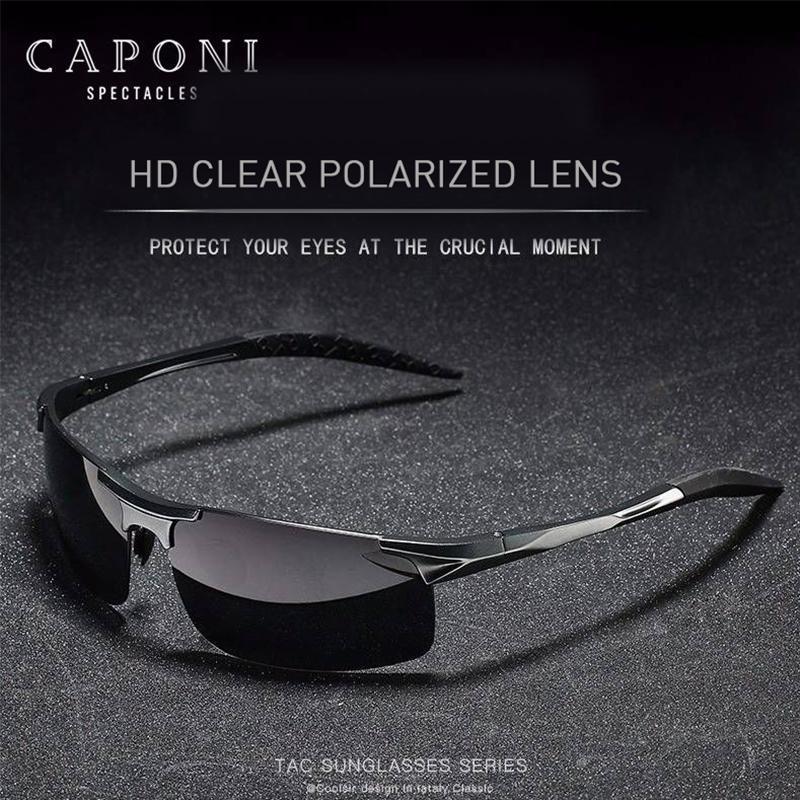 Shades 2020 Sports For Men Polarized Day Frame Sunglasses Sun Uv400 Caponi Glasses Driving Male's Aluminum Cp3043 Protection Fsupk