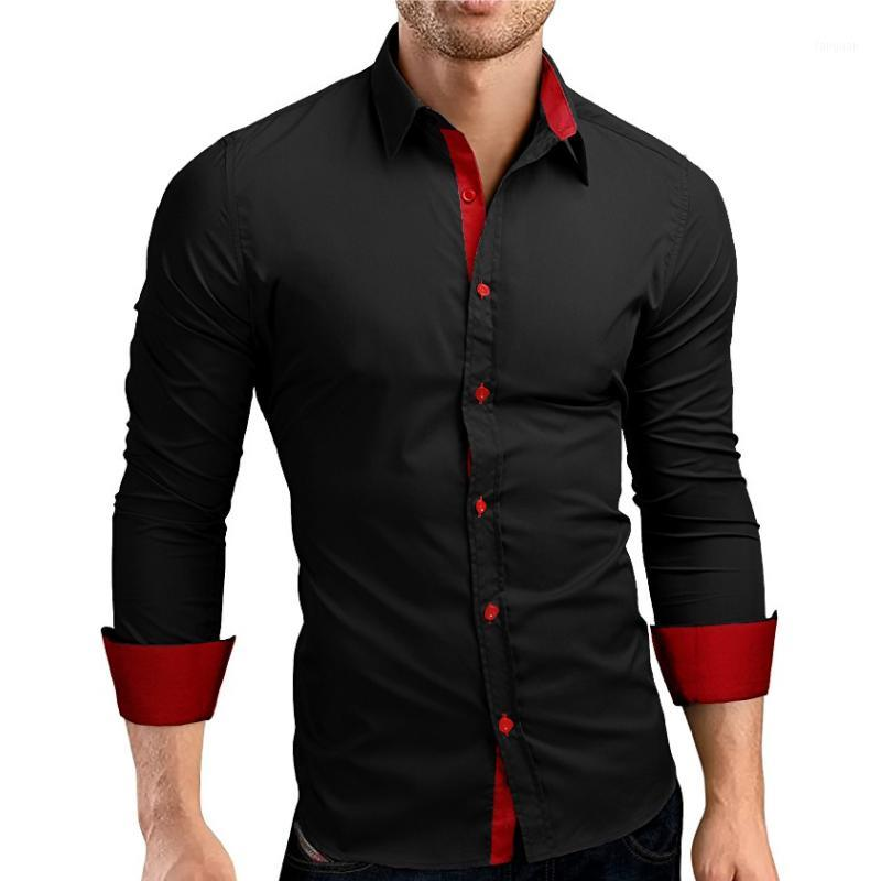 Men's shirt Fashion personality men's casual slim long sleeve shirt blouse 5 colors1