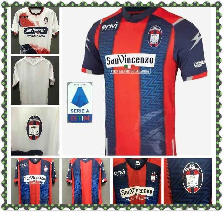 20 21 FC CROTONE soccer jerseys Home away BENALI 10 SIMY 25 HENRIQUE ZANELLATO 21 MESSIAS 30 2020 2021 JERSEY FOOTBALL SHIRTS