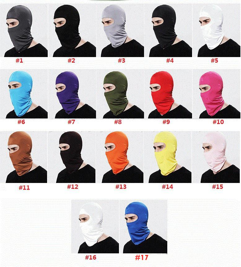 ARAÇ-partment Açık Suç Spor Boyun Yüz Kayak Snowboard Rüzgar Cap Polis Bisiklet Suç Motosiklet Yüz Maskesi Maske 17 renk MK544