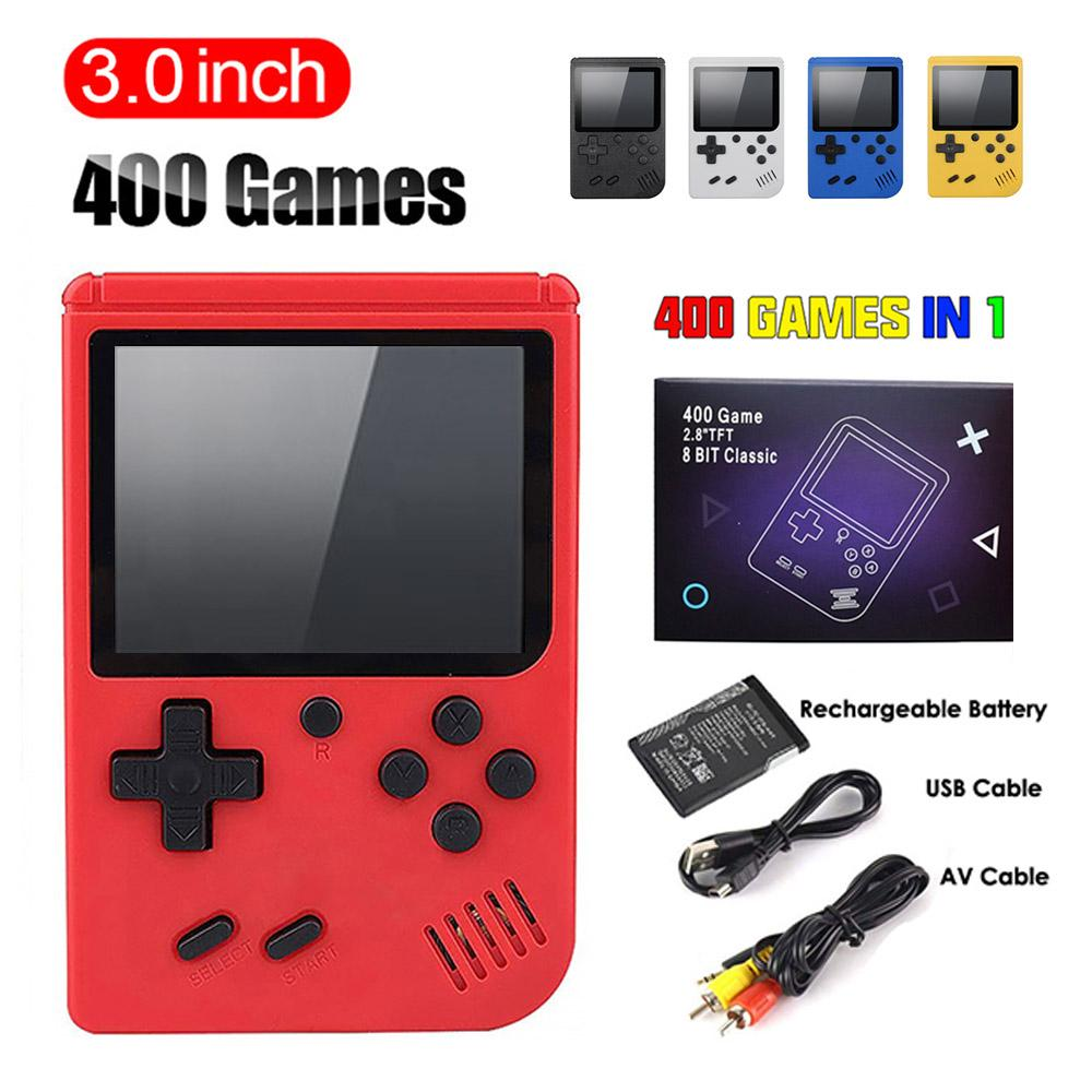 Portable Handheld Video Game Console Retro 8 Bit Mini Game Players 400 sup Games 8 Bit 3.0 Inch Colorful LCD