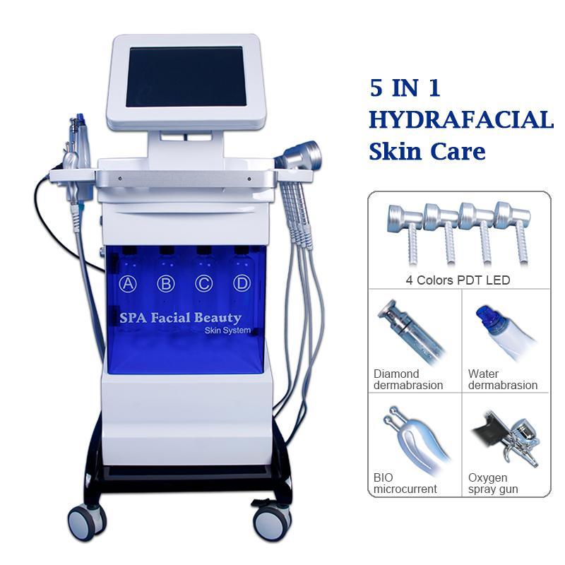 8 in 1 AUQA Soyma Oksijen Jet Sprey Makinesi Mikrodermabrazyon Hidro Peel Hydrafacial Dermabrazyon Oksijen Yüz LED Işık Güzellik Ekipmanları