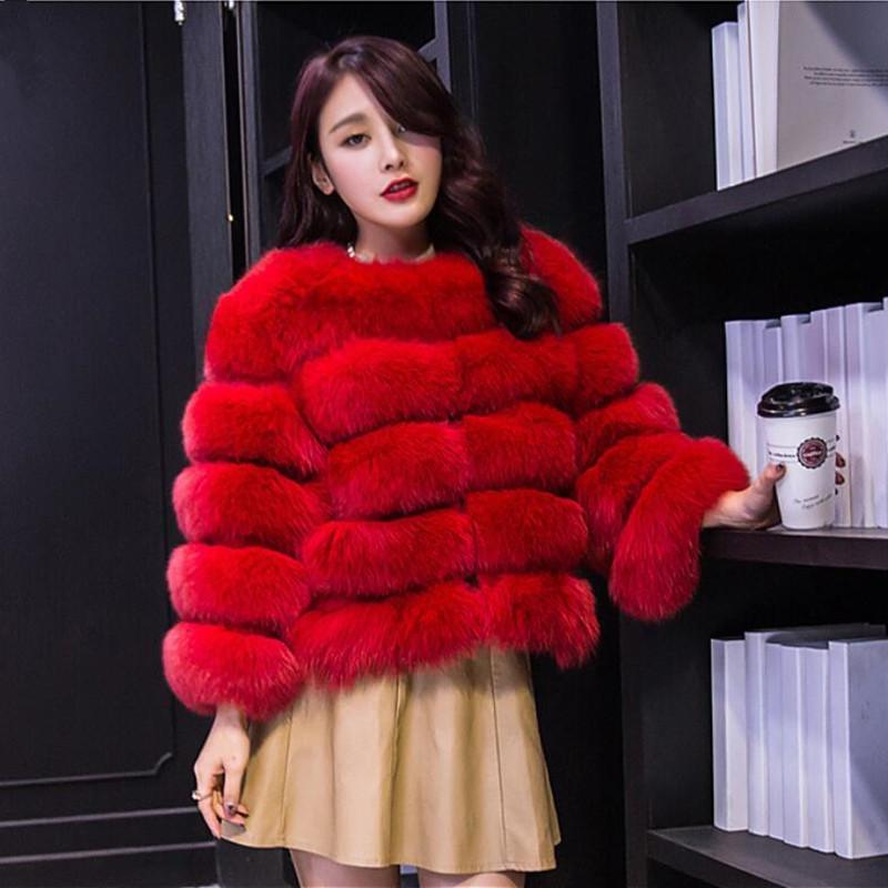 S-3XL норка пальто Женщины 2019 зима Новая мода розовый FAUX Шуба Элегантный Толстые Теплое Верхняя одежда из искусственного меха куртки