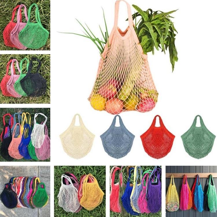 Домашняя хранение Bagpure Хлопковые сетки Сумки толстые и 2см Широкая портативная сумка для покупок Рыбалка Net Beach Bookery Bags9081
