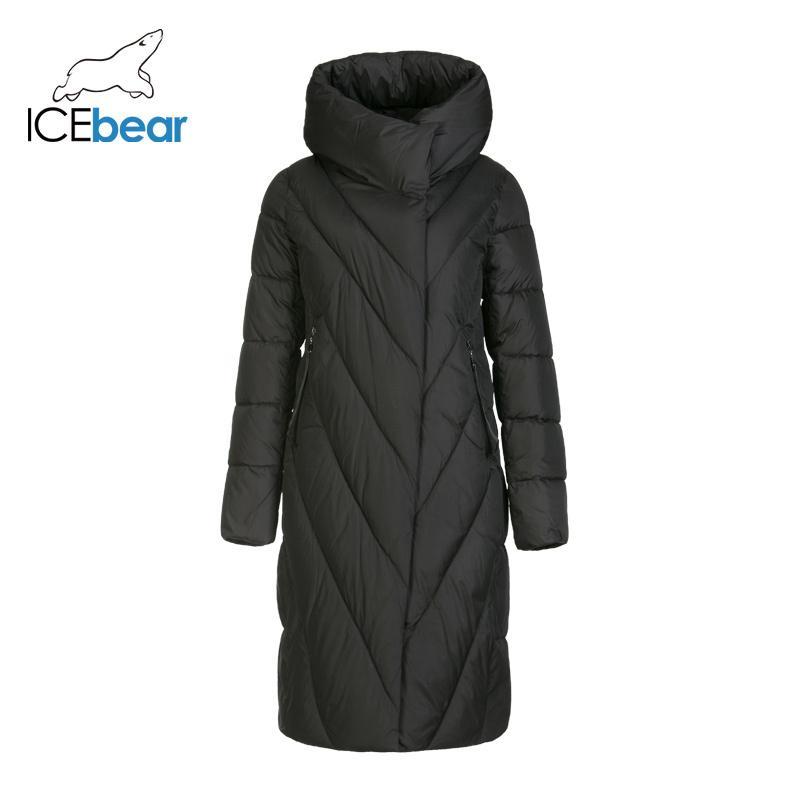 Icebear neue Winterkleidung lange Frauen Daunenjacke Art und Weise warme Damen-Parka Markenfrauen GWD19149I 201006