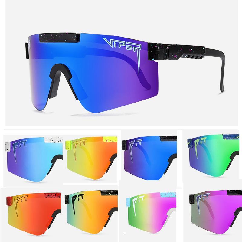 2021 Men frame Óculos de sol Green Goggle Pit Case Espelhado Nova Lente Esportiva Víbora Polarizada Viper 1993 TR90 Proteção Tojim