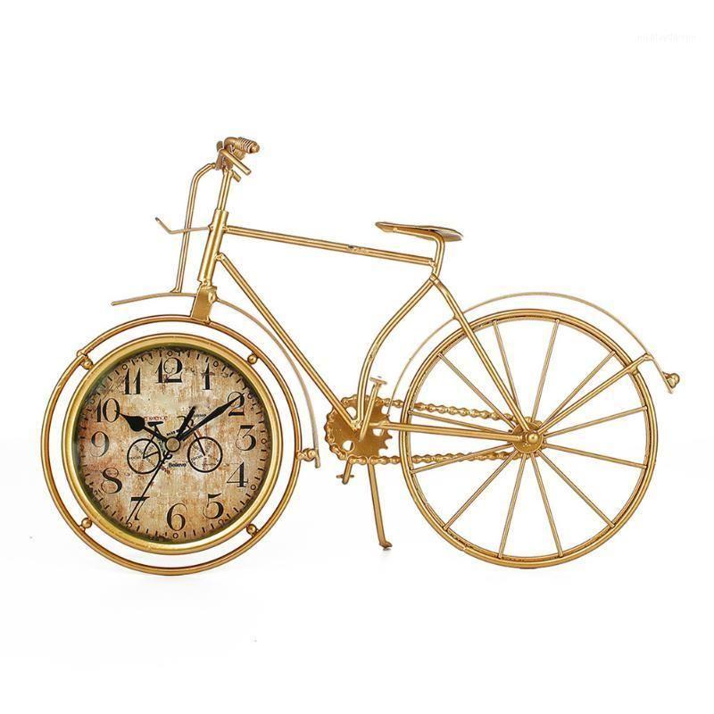 Europeu Ferro Ferro Relógio Bicicleta Assento Casa Decoração Silenciosa Relógio Mesa de escritório 2020ing1
