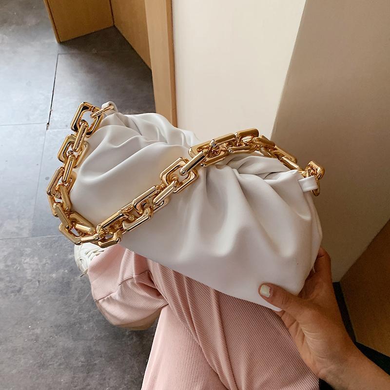 Chaîne en or 2020 été PU Sacs Crossbody cuir pour les femmes Luxuury épaule élégant Sacs à main Q1106