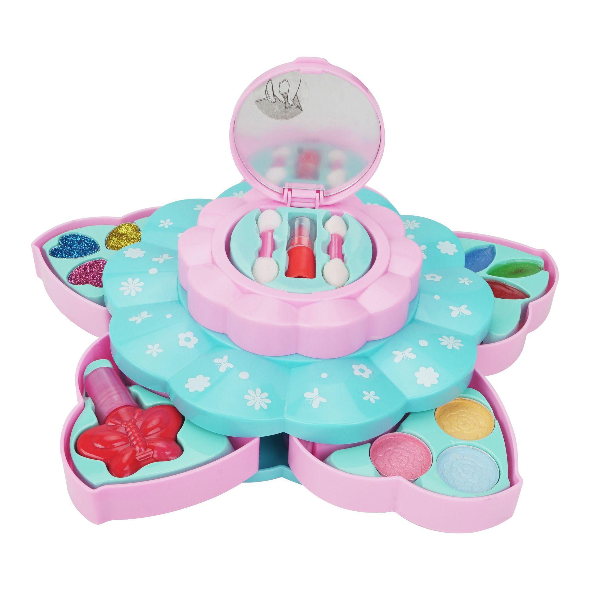 Beauty Box Kinder Make-up Spielzeug Wasserlösliche Make-up Kosmetik Spiel Haus Spielzeug Mädchen Make-up Safe Material Natürlich leicht zu reinigen