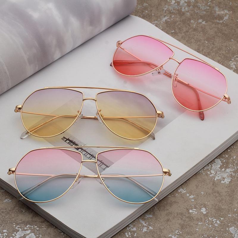 fashion Metal Sunglasses Women's fashion sunglasses new men's Ocean women1
