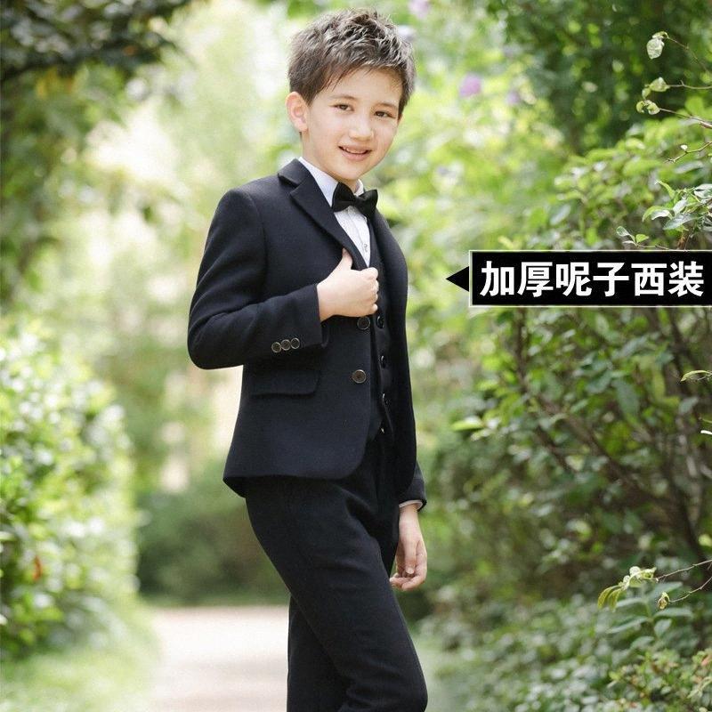 Boys Blazers Suit Kids Boy Suits for Weddings Jacket+Blouse+Tie+Pants 4 pieces/set Children Costume Garcon Marriage Clothes aFjt#