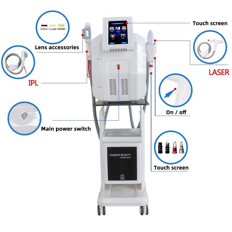 YAG Lazer Dövme Temizleme Makinesi Elight IPL Opt SHR Epilasyon Cilt Gençleştirme Pigmentasyon Terapisi Güzellik Bakım Ekipmanları