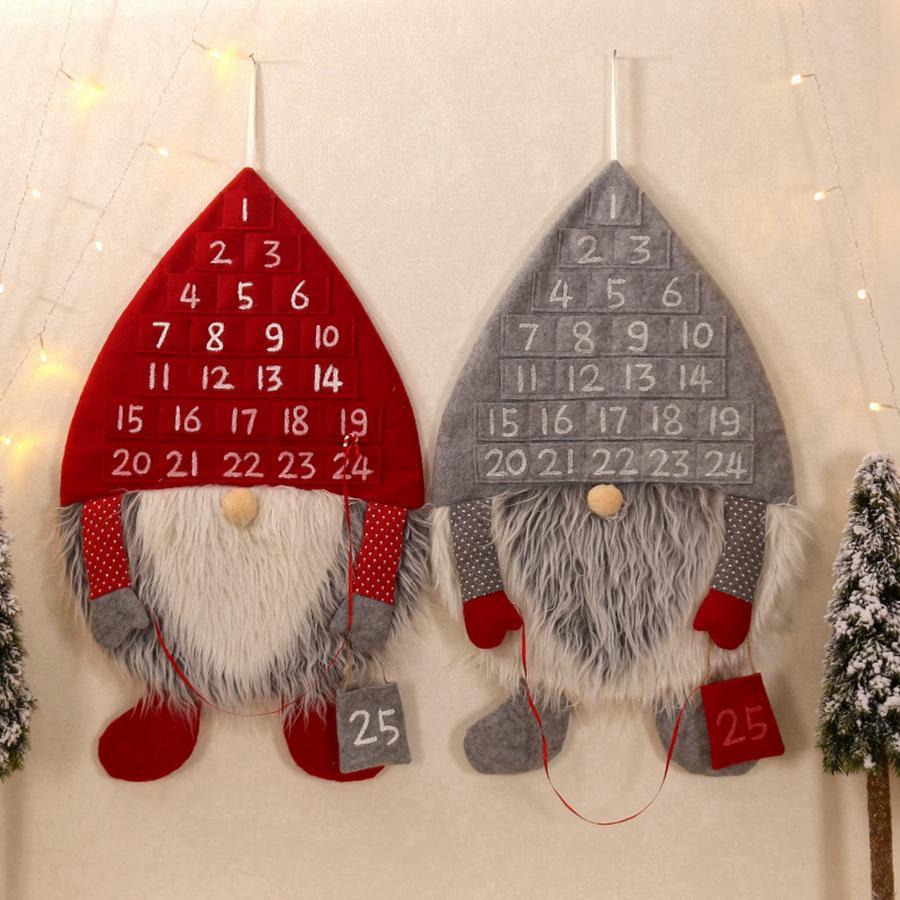 Decoração de Natal Hot Advent Calendar Man Floresta enfeites de Natal Lobby Início Sala Party Recados Porta Pendant Detalhes no RRA3706
