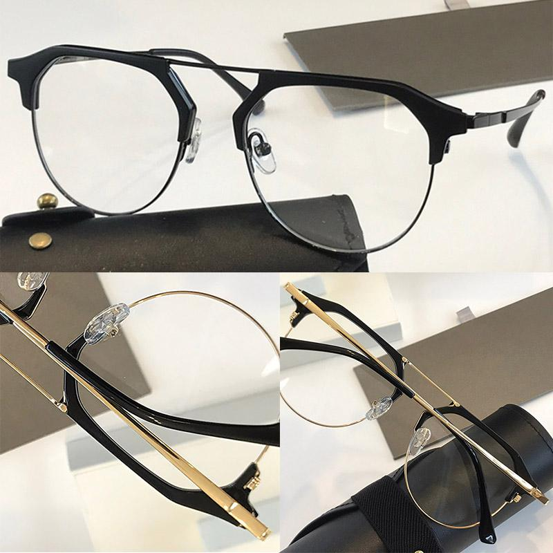 DLX412 New Fashion Optics Glasses With UV Protection for men Women Vintage Oval Frame popular Top Quality Come With Case classic Glasses