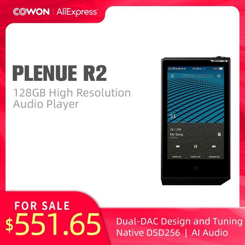 MP4 Oyuncular Cowon Pleneul R2 128 GB Yüksek Çözünürlüklü Ses Çalar Aptx JetEffect Bluetooth Çift DAC DSD256 SNR 136DB AI PR2