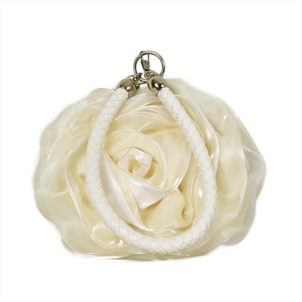 Bolsa de flores de regalo de novia Embrague de noche Daiwei monedero Vestido completo Flor de mujer Bolso de boda bolso de fiesta Wlxat