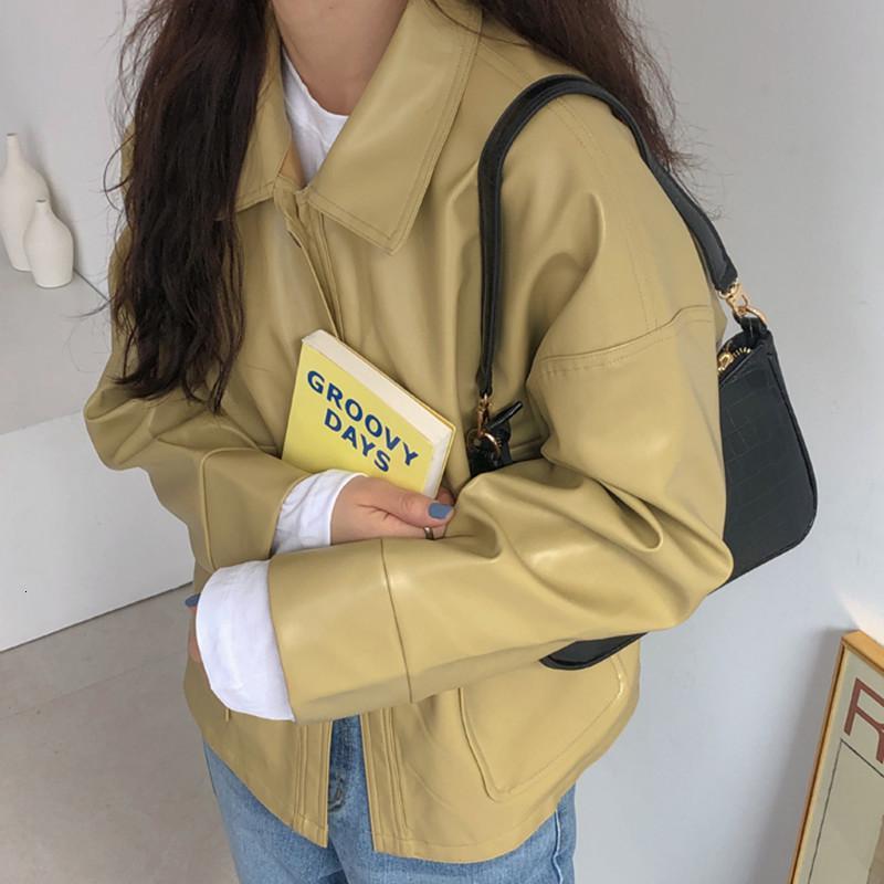 Escudo de manga larga 2020 otoño invierno de las mujeres da vuelta-abajo solo pecho flojas del color sólido de Laides chaquetas elegantes