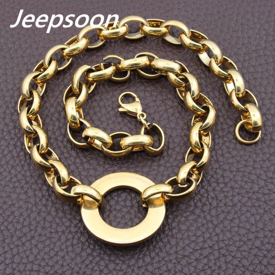 Moda RVS joyería mujer cadena redonda de alta calidad multi-color para elegir jeepsoon