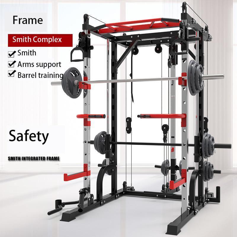 aço máquina frete grátis New Smith agachamento rack de pórtico quadro home fitness dispositivo de treinamento abrangente de agachamento livre supino