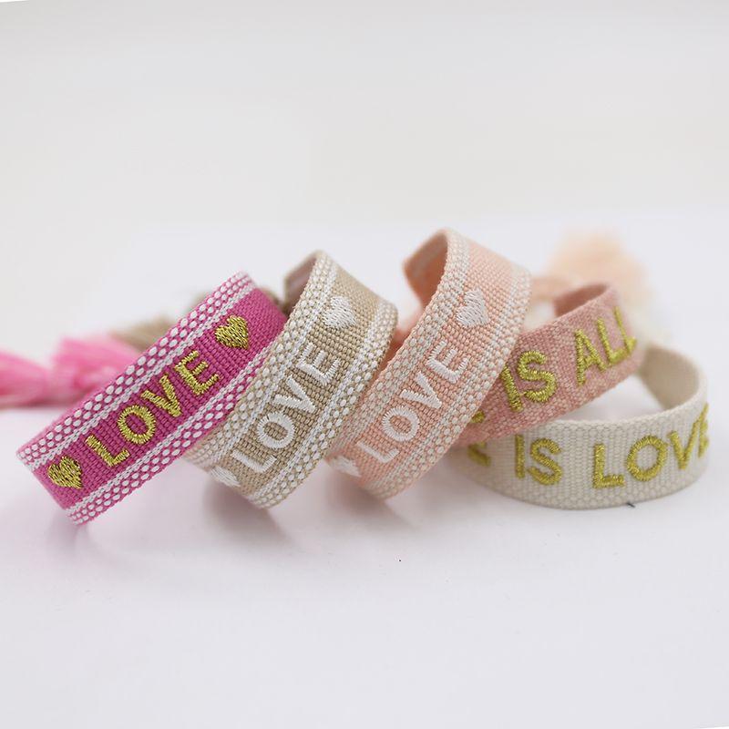 Vintage-Freundschaft-Armband für Frauen-Mann-handgemachte Seil Quaste Armband-justierbare Gewebe-Entwurfs-Armband Schmuck Großhandel