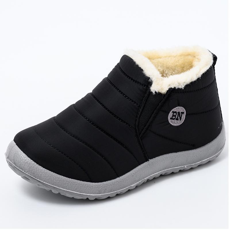 Zapatos de las mujeres botas de invierno ultraligero tobillo de las mujeres de deslizamiento Botas Mujer waterpoor botas de nieve Mujer en planos ocasionales felpa Botas Mujer