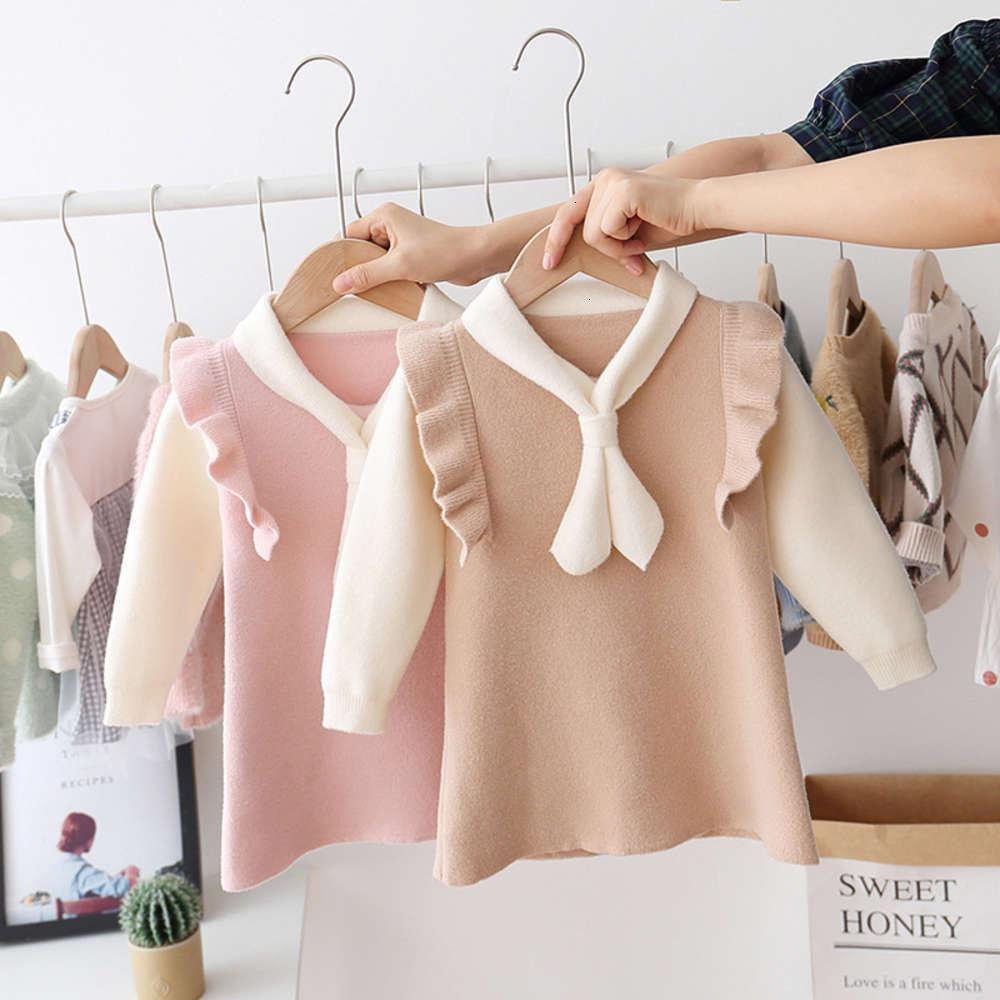 Super DRS Herbst 2019 Koreanische Mädchen Pelz Xianyang Body Mantel Baby Long Sve Top Boutique Kinderkleidung