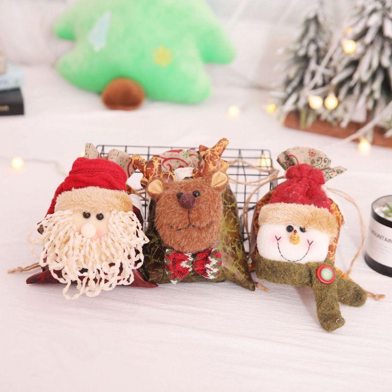 Конфеты мешок рождественские украшения мультфильм Apple, сумка U90A