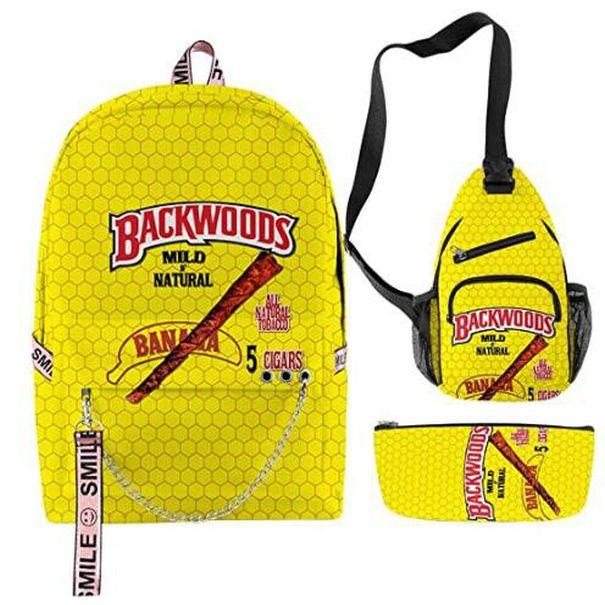 Backwood Zealand New Backwoods Imprimir Diseñador Hombro QiiJus Bolsa de cigarros Bolsa de viaje para Xhlove Men Boys Backpack School Laptop Backw Vpusx