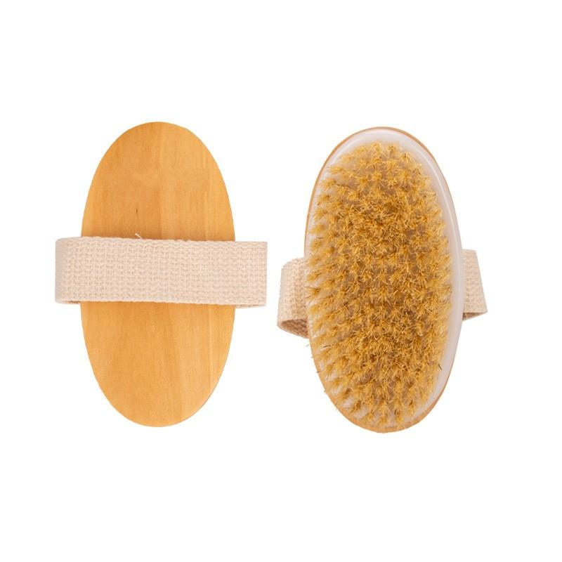 Bricolaje de madera cepillo de baño limpia sin manija Masaje corporal Ducha SPA suave de cerdas naturales Cepillos Depuradores G2 3 95ol