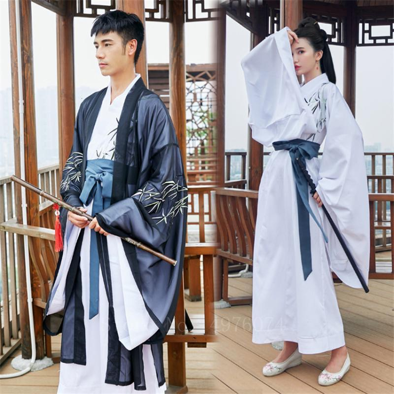 Traditional Chinese Hanfu Adult Oriental Ancient Photography Costume National Embroidery Lover New Year Performance Dress