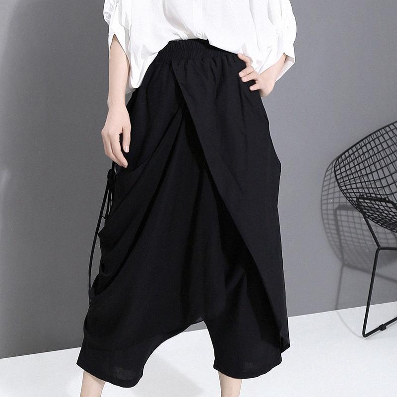 femmes Pantalons Cargo randonnée taille élastique rapide à sec léger extérieur résistant Casual haute taille mince lâche pantalon Xigu #