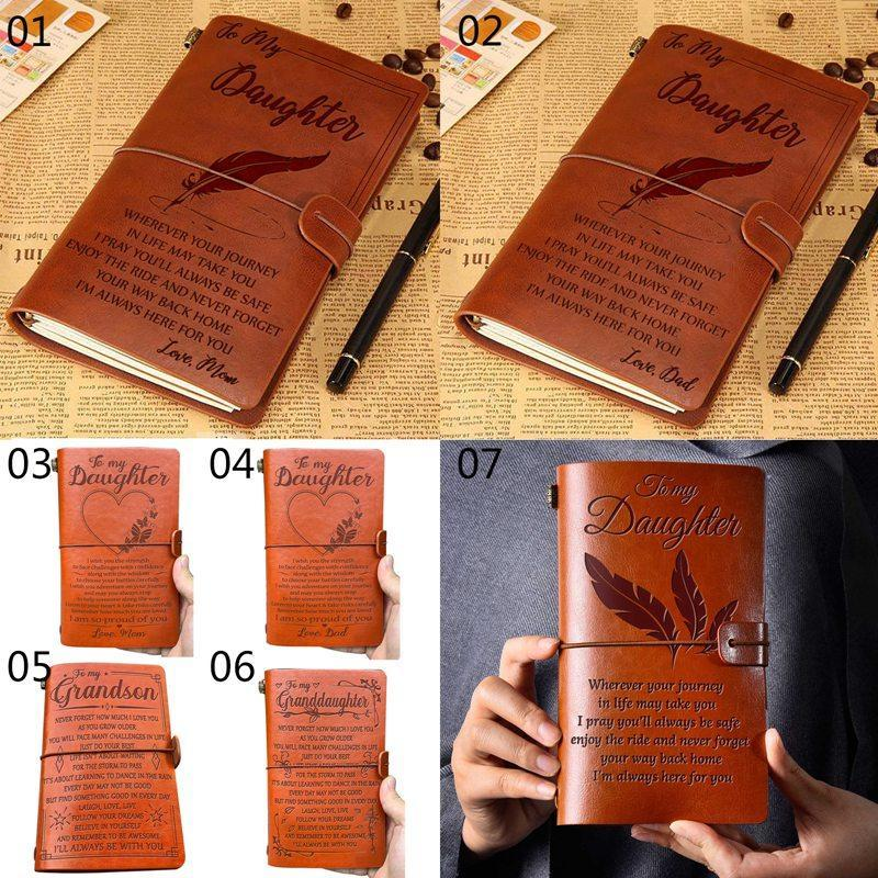 Vintage Diário Viajantes Notebook Notepad Pu Couro Espiral Literatura Livro Jornal Jornal Planners Papelaria Presente Escola