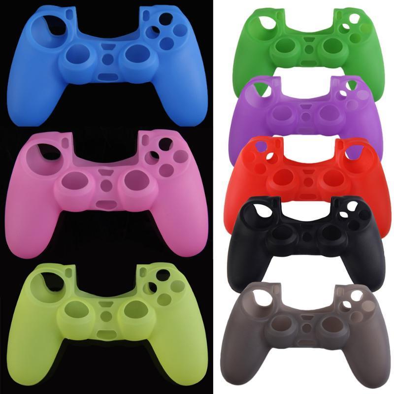 8 ألوان كامو هلام السيليكون لينة حالة الجلد المطاط قبضة تغطية ل PS4 اللاسلكية حالة المراقب الجلد قبضة لعبة الغطاء المراقب
