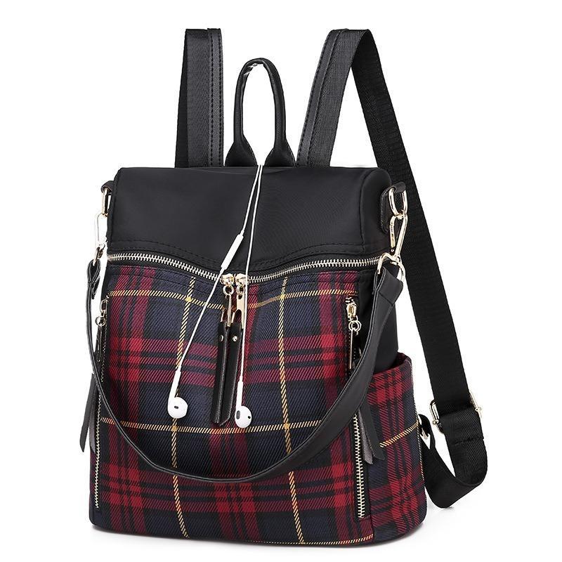 2020 Yeni Kadın Okul Sırt Çantaları 5DWA Çanta Mujer Bagpack Çanta Omuz Sırt Çantası Büyük Kapasiteli Satranç RIVtu