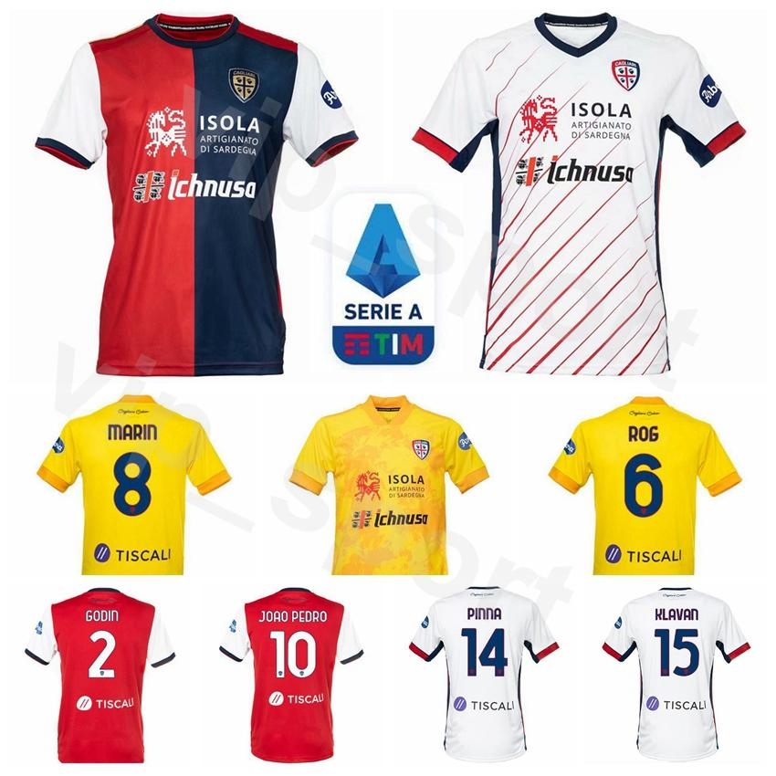 2020 21 futebol Cagliari Jersey 9 SIMEONE 10 João Pedro 2 shirt Kits GODIN 22 Lykogiannis 44 Nainggolan PELLEGRINI Cigarini futebol
