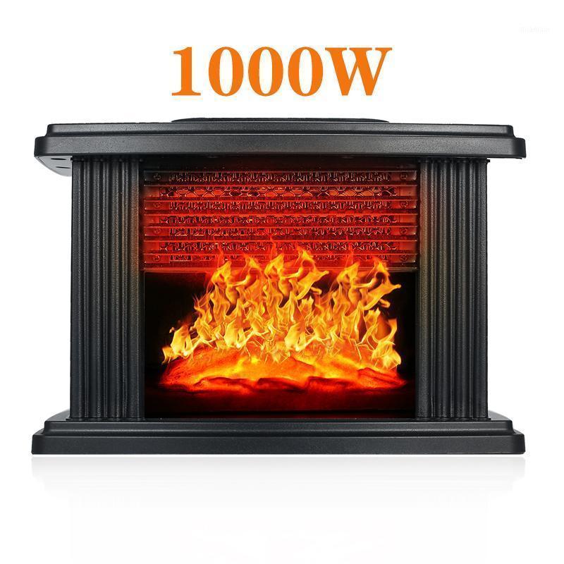 Aquecedores eléctricos inteligentes 2021 Out est fogão de lareira aquecedor portátil mesa de mesa 1000w Natal halloween1