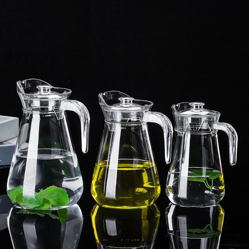 1L / 1.5L / 2L PC Акриловые Соки чайник Прозрачный Jar Графин Вода и напитки Бутылка Пластиковые Холодный молочный напиток Бар Контейнер Barware