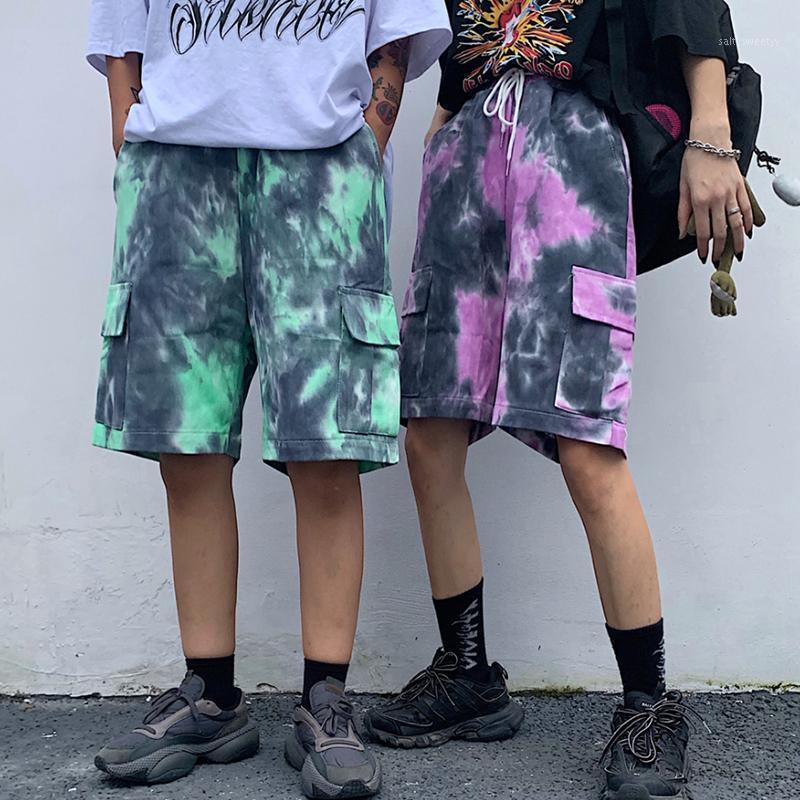 2020 Yaz Yeni Kravat BF Trend Trend Kore Sürümü Trend Takım Beş Puan Erkek Gevşek Sokak Harajuku Denim Şort M-XL1